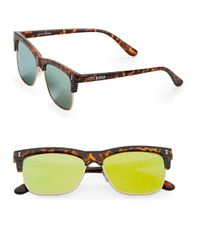 Steve Madden | Yellow 51mm Square Sunglasses | Lyst