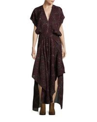 Free People | Purple Floral Maxi Dress | Lyst