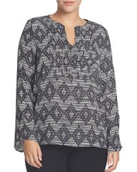 Chaus - Black Nomad Engraving Pintuck Top - Lyst