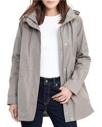 Lauren by Ralph Lauren | Green Hooded Anorak Jacket | Lyst
