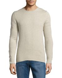 SELECTED   Natural Textured Knit Sweater for Men   Lyst