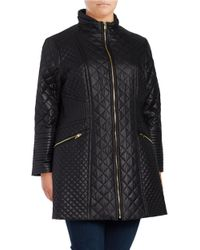 Via Spiga | Black Plus? Zip-up Quilted Jacket | Lyst