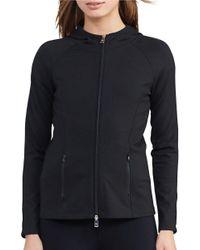 Lauren by Ralph Lauren | Black Long-sleeve Hooded Jacket | Lyst