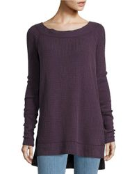Free People | Purple Kate Boatneck Tunic Sweater | Lyst