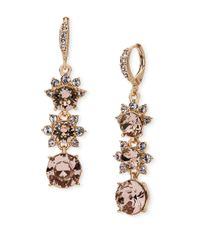 Givenchy | Metallic Rose Goldplated Linear Drop Earrings | Lyst