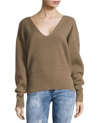 Free People | Purple Allure V-neck Sweater | Lyst