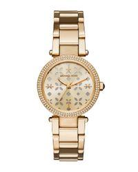 Michael Kors   Metallic Mini Parker Goldtone Stainless Steel Three-hand Bracelet Watch   Lyst