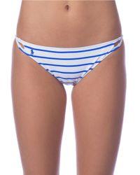 Polo Ralph Lauren | Blue Striped Hipster Bikini Bottom | Lyst