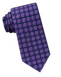 Ted Baker | Purple Floral Printed Silk Tie for Men | Lyst