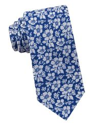 Ted Baker | Blue Allover Floral Silk Tie for Men | Lyst