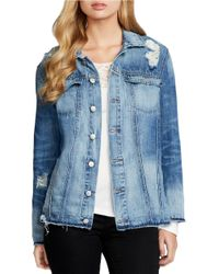 Jessica Simpson | Blue Superloved Peri Embroidered Denim Jacket | Lyst
