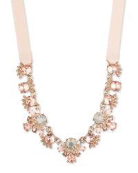 Marchesa - Metallic Goldtone Frontal Necklace - Lyst
