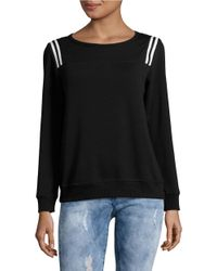 Lord & Taylor | Black Stripe-accented Knit Pullover | Lyst