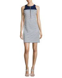 MICHAEL Michael Kors | Blue Petite? Striped Sheath Dress | Lyst