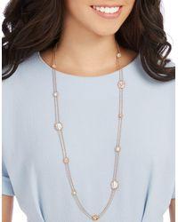 Swarovski | Metallic Crystal-embellished Strandage Necklace | Lyst