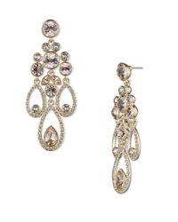 Givenchy | Metallic Austrain Glass Drop Earrings | Lyst