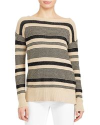 Lauren by Ralph Lauren | Multicolor Petite Cotton-blend Sweater | Lyst