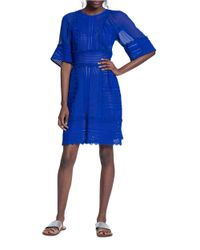 Tracy Reese | Blue Geometric Lace Dress | Lyst