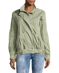 Free People | Green Parachute Cropped Army Jacket | Lyst