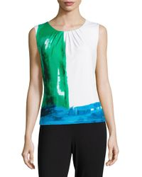Calvin Klein | Multicolor Printed Knit Shell | Lyst