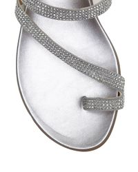 Vince Camuto - Metallic Evina Thong Slip-on Sandals - Lyst
