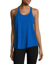 Lord & Taylor | Blue Knit Racerback Tank Top | Lyst