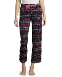 Lord & Taylor | Black Hello Gorgeous Pajama Pants | Lyst