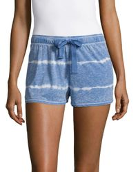 Roudelain - Blue Cotton-blend Tie-dyed Shorts - Lyst