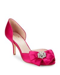 kate spade new york | Pink Santarosa Peep Toe Pumps | Lyst