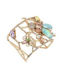 Betsey Johnson | Metallic Pave Insect Geometric Cut-out Cuff Bracelet | Lyst