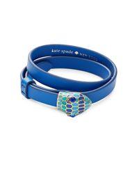 kate spade new york | Blue Spice Things Up Snake Wrap Bracelet | Lyst