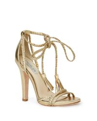 Rachel Zoe - Metallic Odette Leather Sandals - Lyst