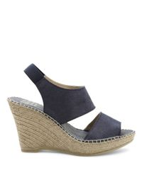 Andre Assous - Blue Reese Suede Platform Wedge Sandals - Lyst