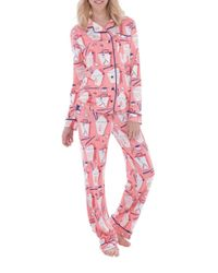 Munki Munki - Multicolor Jersey Chinese Takeout Classic Pajama Set - Lyst