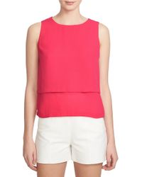 1.STATE   Multicolor Double Layer Chiffon Tank   Lyst