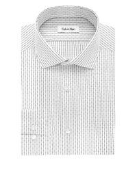 Calvin Klein Black Slim Fit Broken Check Dress Shirt for men