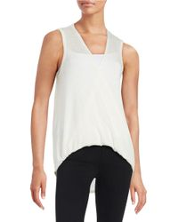 Lord & Taylor | White Draped Knit Tank Top | Lyst
