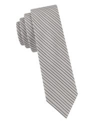 William Rast | Gray Striped Silk Tie for Men | Lyst
