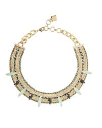 BCBGMAXAZRIA | Metallic Stone Chain Necklace | Lyst
