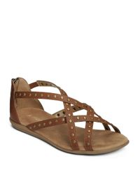 Aerosoles | Brown Chlosing Time Zipped Sandals | Lyst