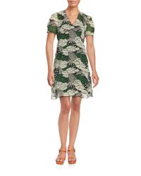 Anna Sui   Green Starry Night Shift Dress   Lyst