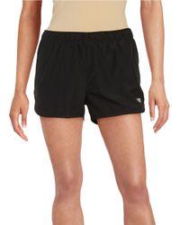 New Balance | Black Contrast Athletic Shorts | Lyst