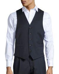 Lauren by Ralph Lauren - Blue 5-button Wool Vest for Men - Lyst