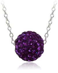 Lord & Taylor | Purple Crystal Studded Pendant Necklace | Lyst