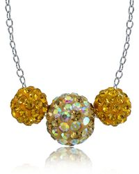 Lord & Taylor | Yellow Sterling Silver Crystal Fireball Necklace | Lyst