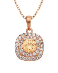 Lord & Taylor   Pink Multi-stone Pendant Necklace   Lyst