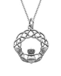 Lord & Taylor | Metallic Claddagh Celtic Knot Pendant Necklace | Lyst