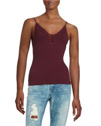 Free People | Red Seamless Crossfire Cami | Lyst