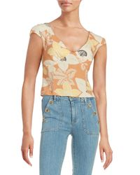 Free People | Orange Into The Groove Crop Top | Lyst