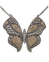 Lord & Taylor | Multicolor Crystal Butterfly Pendant Necklace | Lyst